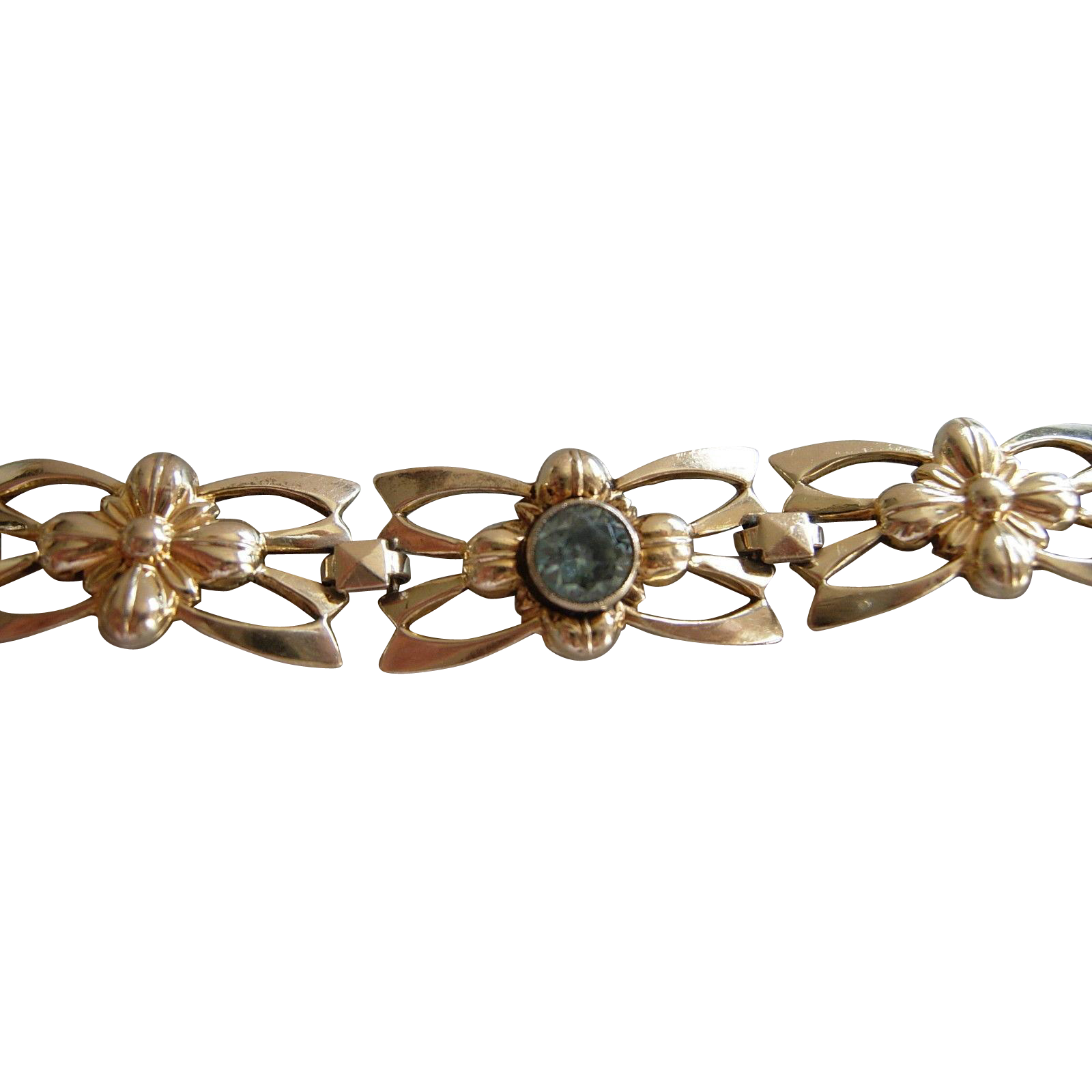 gold zircon rhodium rainbow vintage plated bracelet rose previous product