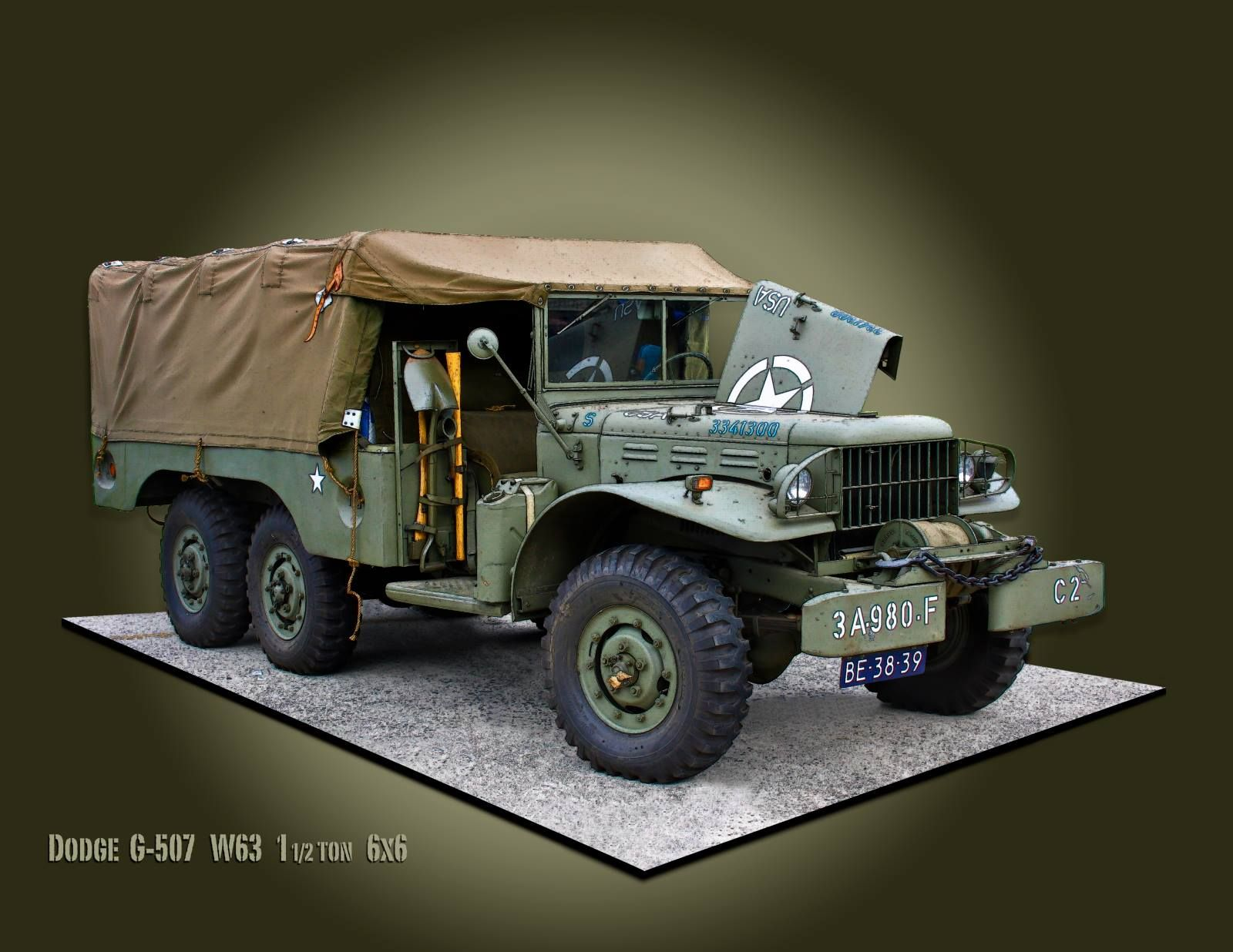 Dodge trucks in wwii - 1943 Dodge Wc63 Weapons Carrier U S Army Vehicle