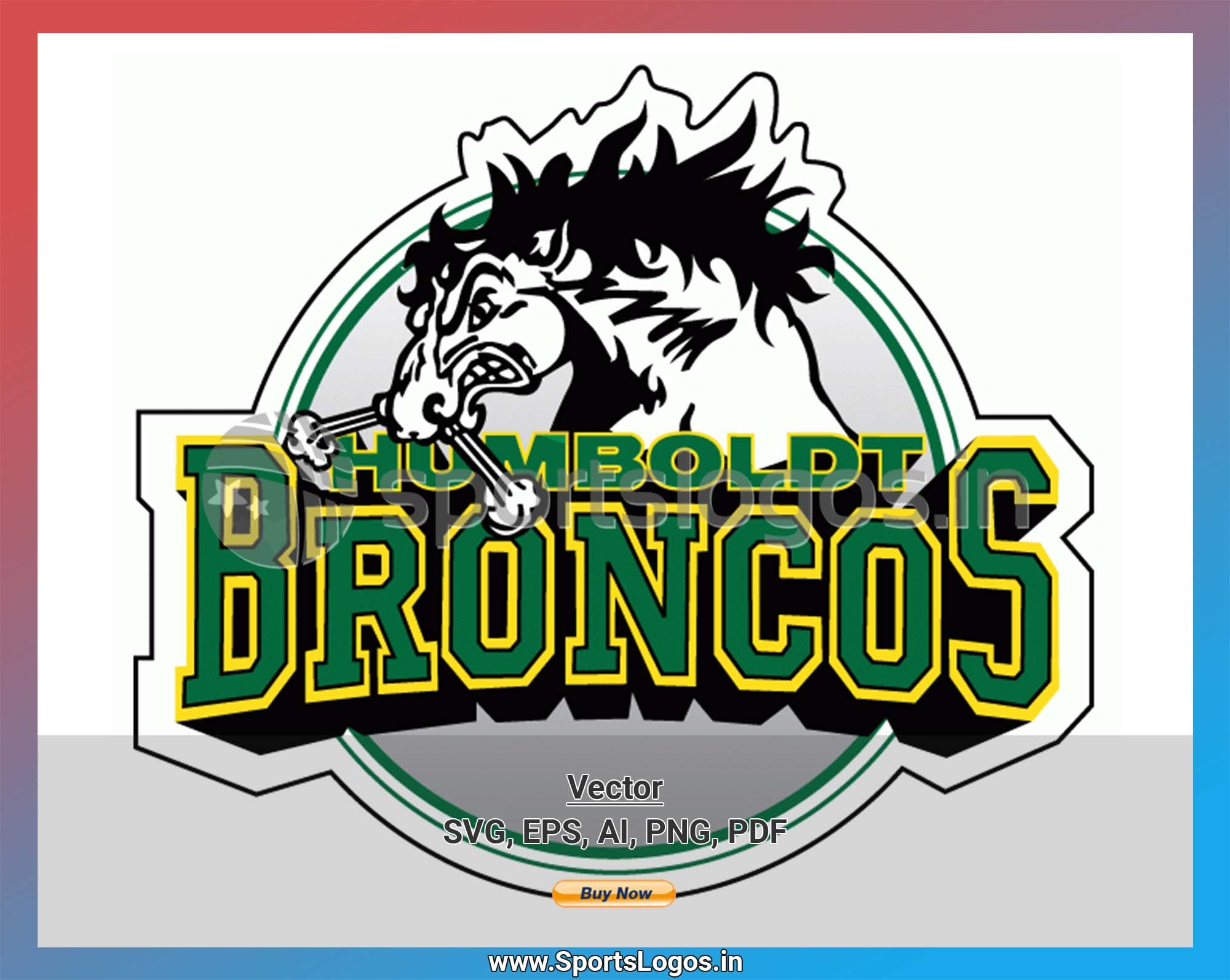 Humboldt Broncos Hockey Sports Vector SVG Logo in 5