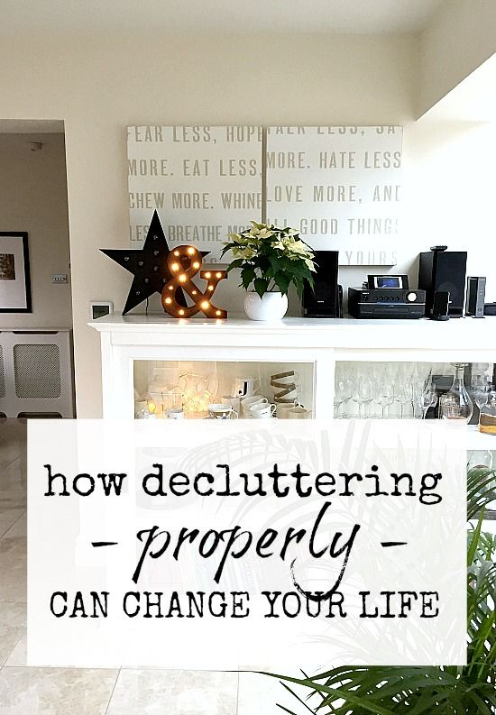 Change Your Life Starting Today Declutter And Create Space For