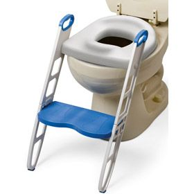 Cushie Step Up Padded Potty Seat W Step Stool Excellent Idea For When Kids Can Go By Themselves But Aren T Tall Enough Potty Seat Best Potty Seat Toilet Training