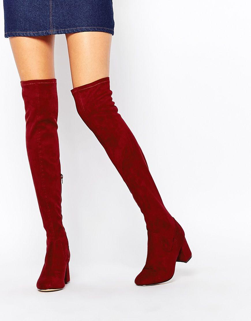 Buy Women Shoes / New Look Over The Knee Boots With Block Heel