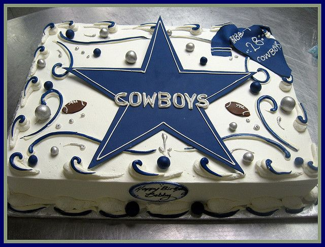 Bobbys Dallas Cowboy Sheet Cake Dallas Cowboys Pinterest