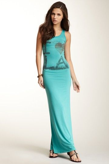Go Couture Scoop Neck Sleeveless Print Maxi Dress by Non Specific on @HauteLook