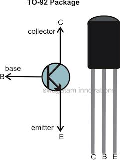 NPN transistor BC547, BC548, BC546 pinouts | Electronics circuit in