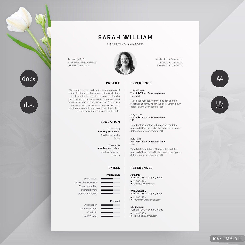 Resume Cv Cv Design Resume Design Template Clean Resume Design