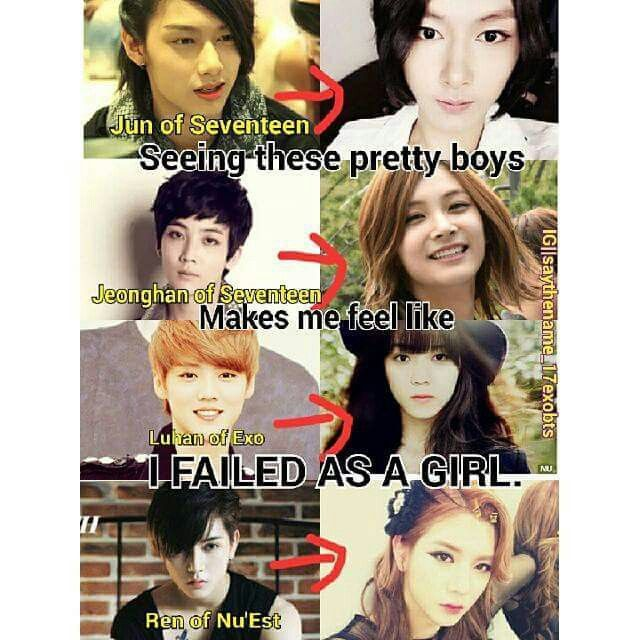 Luhan The Most Beautiful Girl Of All Time But Still I Don T Stand A Chance In This World Xd Kpop Funny Kpop Memes Luhan