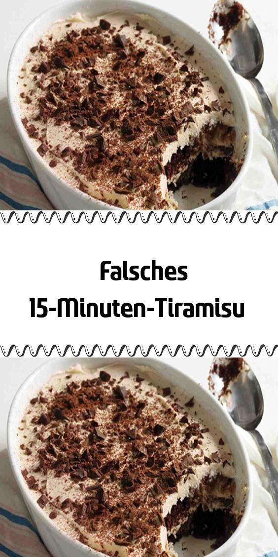 Falsches 15-Minuten-Tiramisu #einfachernachtisch
