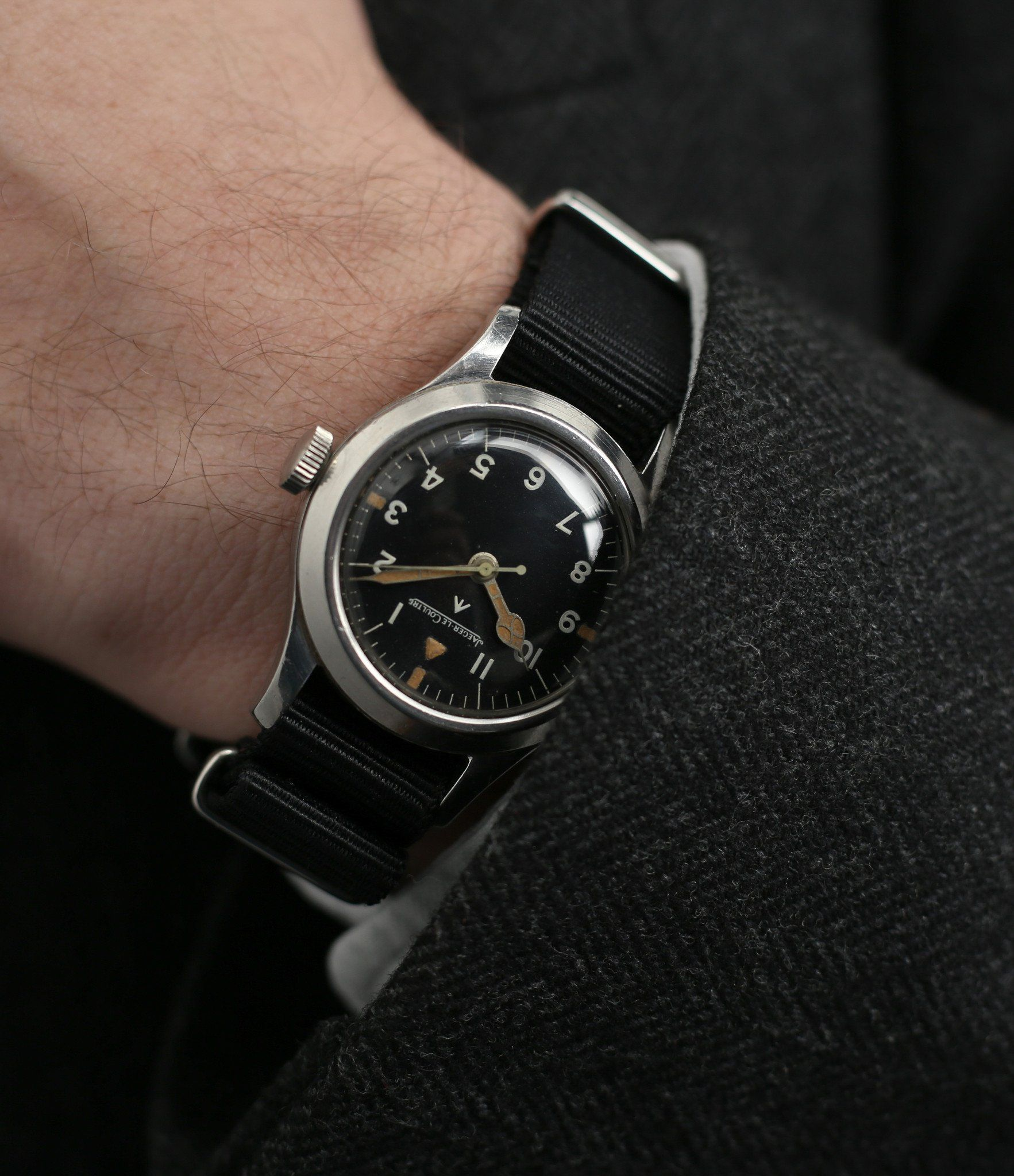 vintage Jaeger-LeCoultre Mark XI RAF military pilot watch 6B 346 with  cathedral hands 537fd52a23f