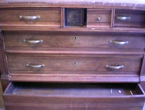 Dresser With Secret Metal Safe Hidden Inside Hidden Compartments