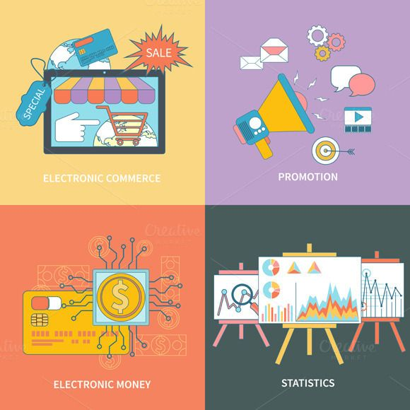 Electronic Commerce, Statistic by robuart on Creative Market