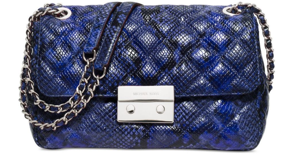 567ae81cce84 MICHAEL Michael Kors Womens Sloan Large Chain Shoulder Bag (Electric  Blue/Silver)