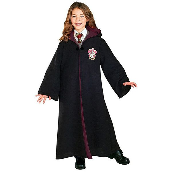 Harry Potter Black Gryffindor Deluxe Robe 24 Liked On Polyvore Featuring Intimates An Harry Potter Costume Harry Potter Gryffindor Robe Harry Potter Robes
