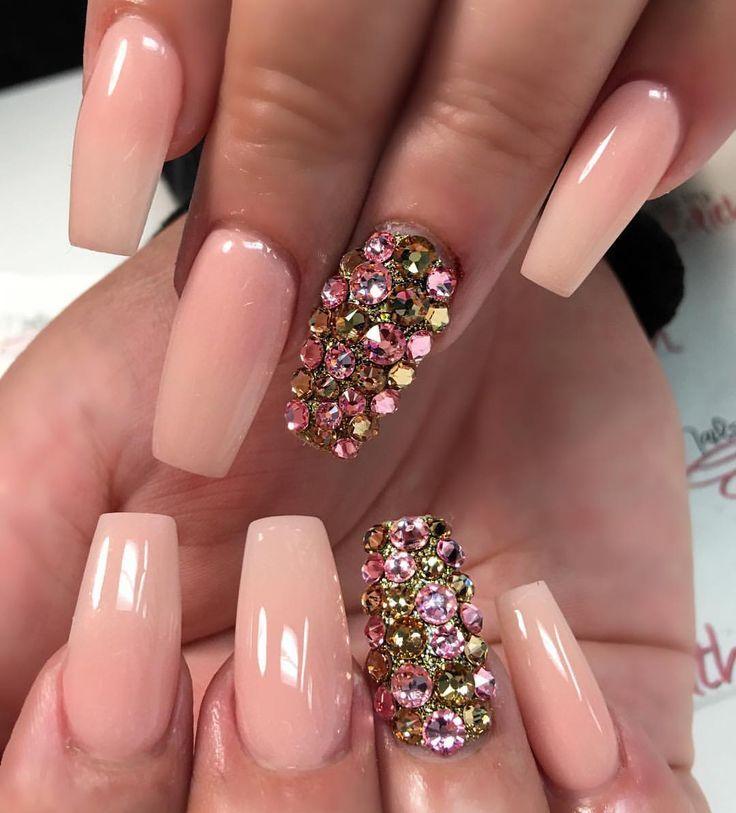 Uñas color durazno / ❥♚ | Nails | Pinterest | Uñas color durazno ...