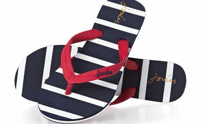 Joules Womens Joules Jenny Flip Flops - Navy Stripe Womens -1294
