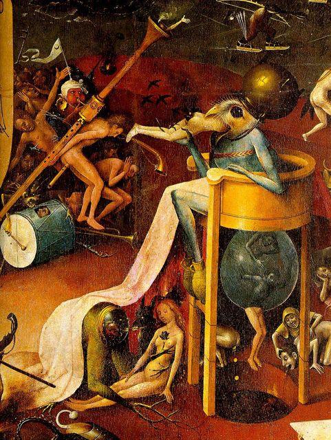 Dans la Vision de l'Enfer (Le Jardin des Délices), par Jérôme Bosch  (ci-dessus), le peintre décrit la punition des péchés d… | Bosch peintre,  Jérôme bosch, Les arts