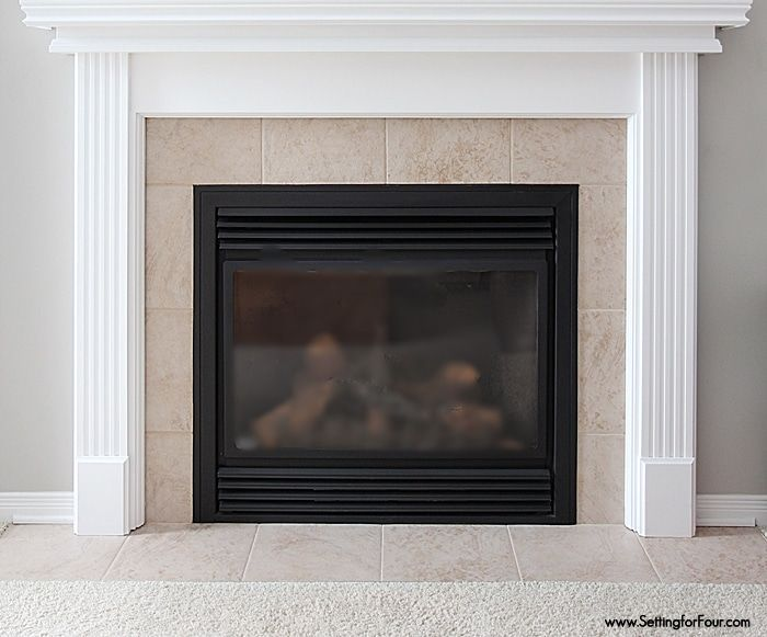 How to Paint Tile - Easy Fireplace Paint Makeover, #Easy # ...