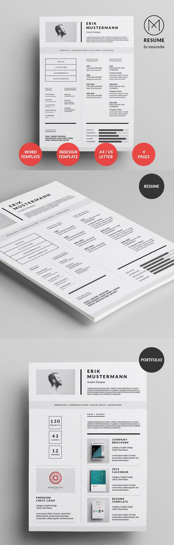 Creative Modern Resume Design  Resume    Modern