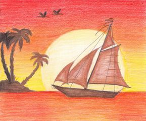 Sunset Drawings In Pencil Sunset Pencil Drawing Sunset Drawings In