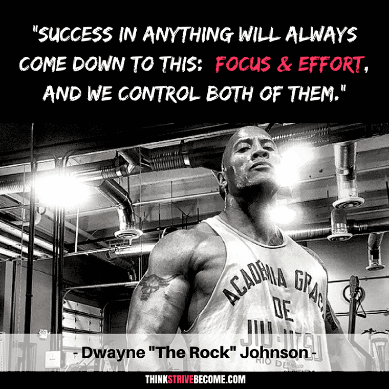 Go For It, Seize Your Moment, STRIVE! | Dwayne the rock ...