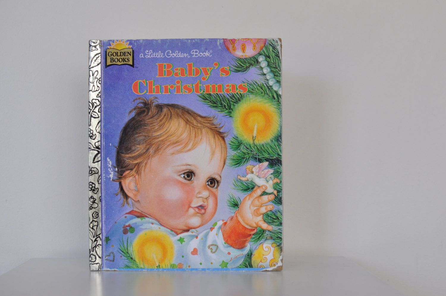 baby's christmas vintage childrens little golden by MadewithloveUK