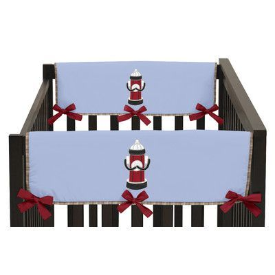 Sweet Jojo Designs Frankie's Firetruck Side Crib Rail Guard Cover