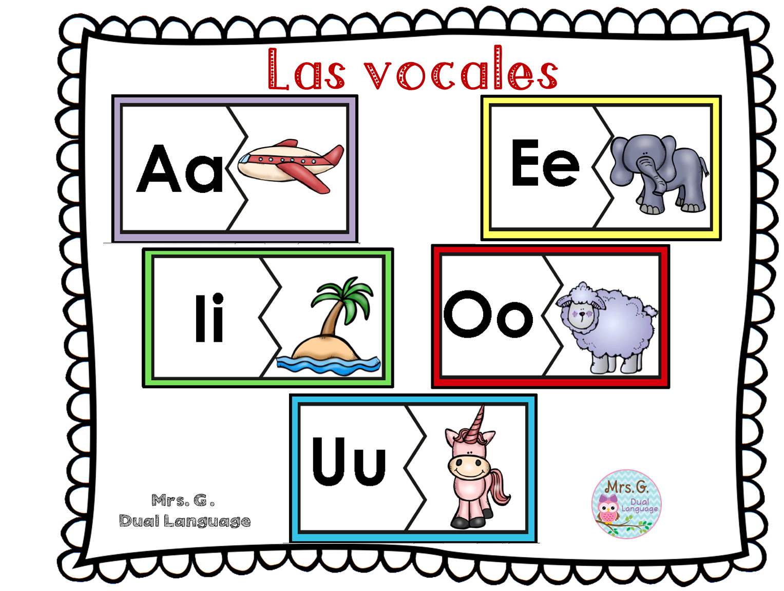 Las Vocales Spanish Vowels Center Activities