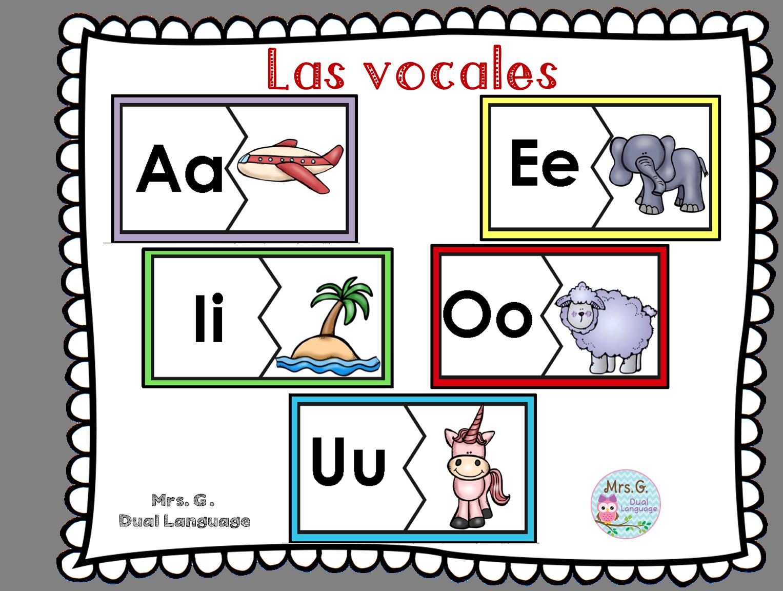 Las Vocales Spanish Vowels Center Activities