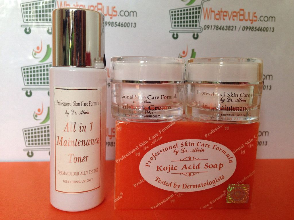 All In 1 Maintenance Set Professional Skin Care Formula By Dr Alvin