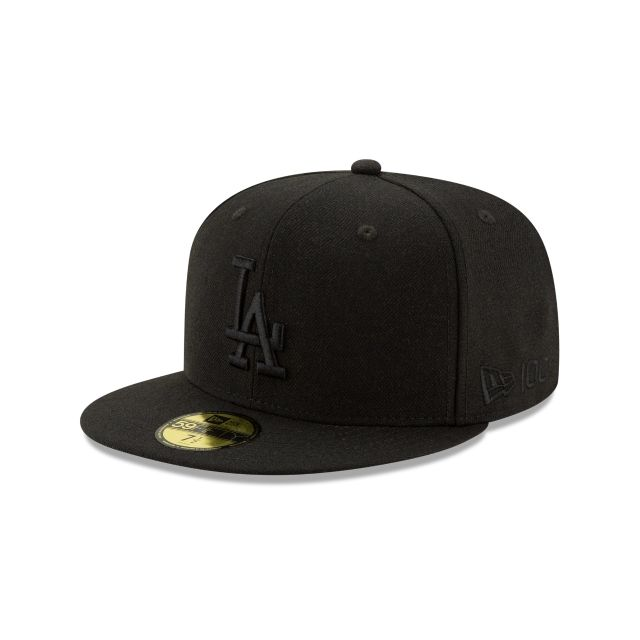 Los Angeles Dodgers Black Wool 59fifty Fitted Hats New Era Cap Fitted Hats Hats For Men Fitted Hats New Era