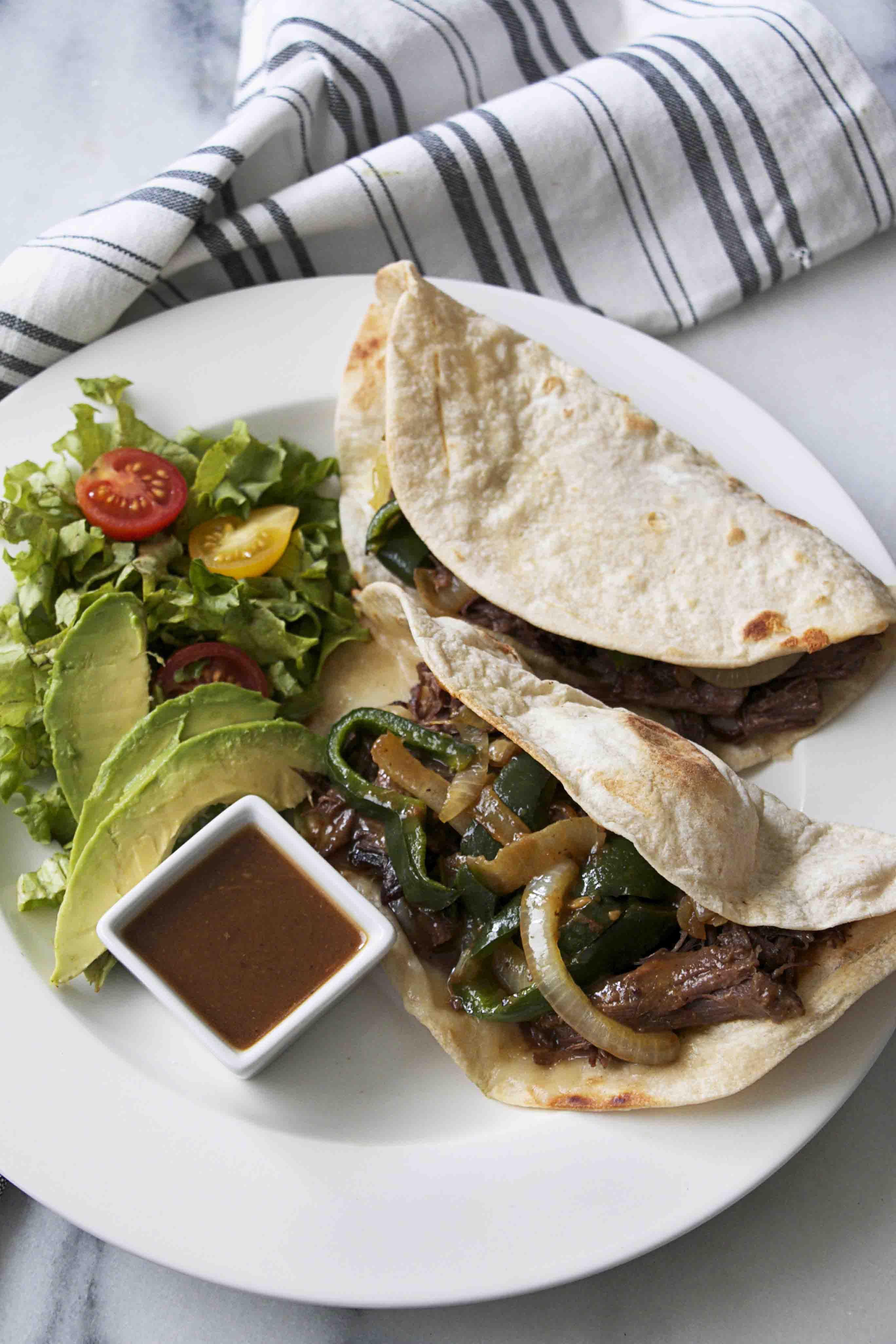 Dallas-Style Brisket Tacos ~
