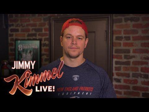 Jimmy Kimmel Reveals The True Culprits Behind The Deflated Footballs Matt Damon Ben Affleck Guys
