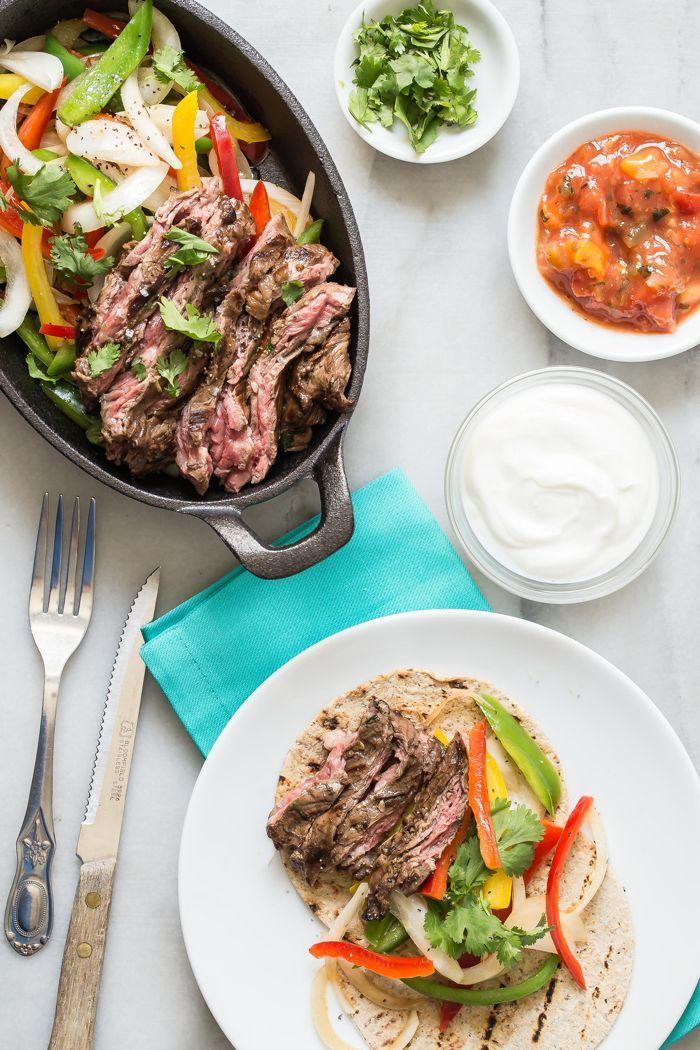 Skirt Steak Fajitas Recipe Food recipes