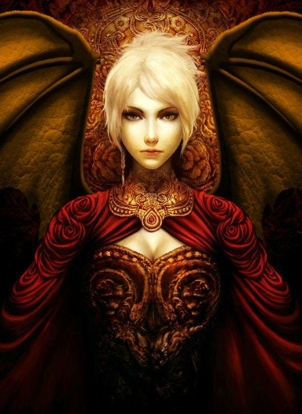 Gold Radiant Half Dragon Sorceress In 2019 Fantasy Women
