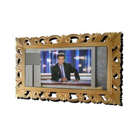 t l viseur miroir 32 pouces haute technologie encadrement bois dor. Black Bedroom Furniture Sets. Home Design Ideas