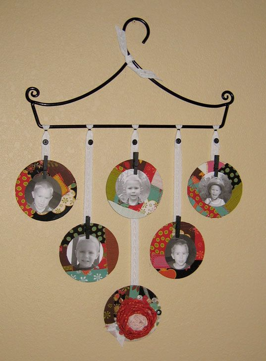 recycled cd pic frames. Maybe for our pic frame Christmas ornaments ...