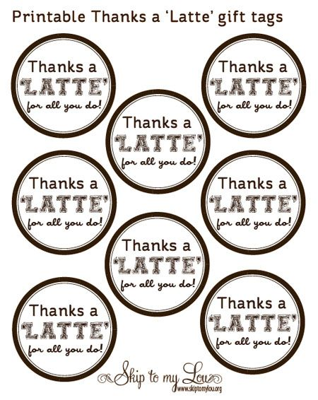 picture regarding Thanks a Latte Printable Tag referred to as Finish of 12 months Trainer Reward Concept--\
