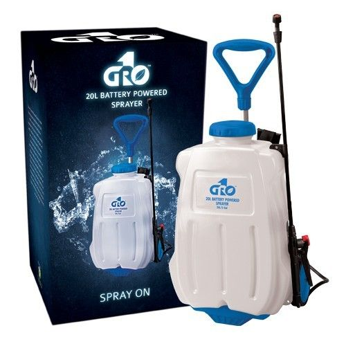 Gro1 5 Gallon 20l Battery Powered Sprayer Power Sprayer Sprayers Hydroponic Supplies