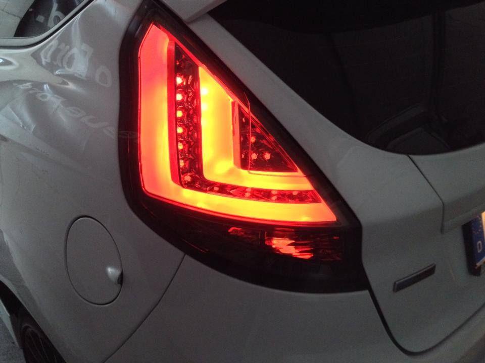 Led Lightbar Taillights Fiesta Mk7 Black European Parts Ford Fiesta St Ford Fiesta Car Mods