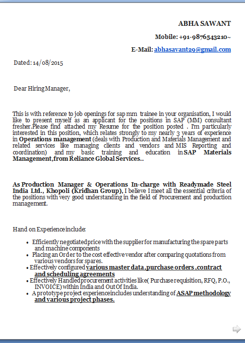 How To Write A Cover Letter For Job Excellent Application