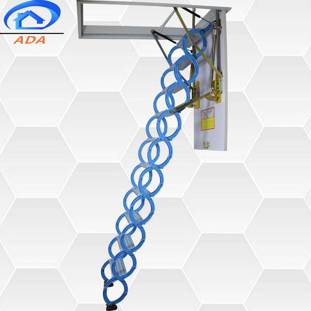 Best Popular Folding Attic Ladders With Handrail Buy Homebase 640 x 480