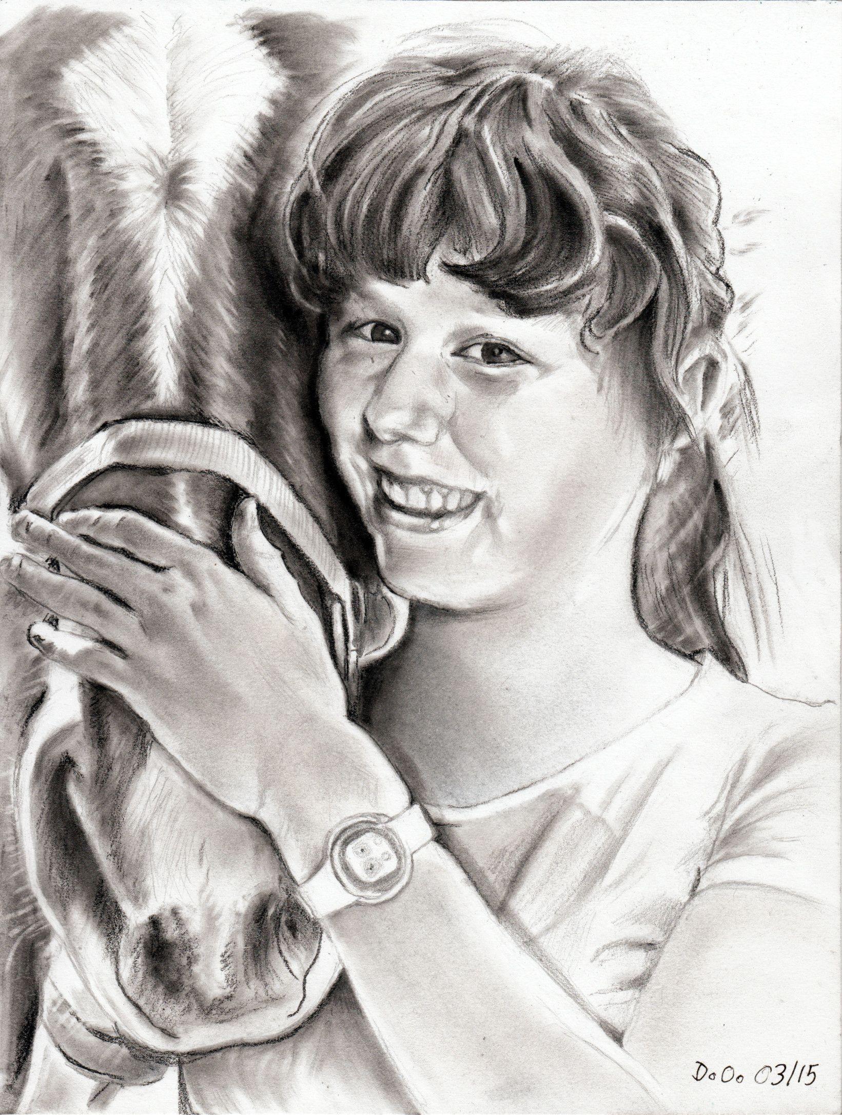 Florence Q...  Une fille de mon amie Nicole, de Suisse   A4 pencil et panpastel