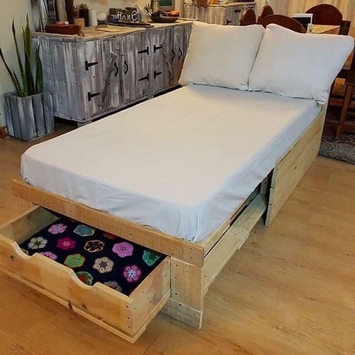100 diy pallet bed frame designs easy pallet ideas bed