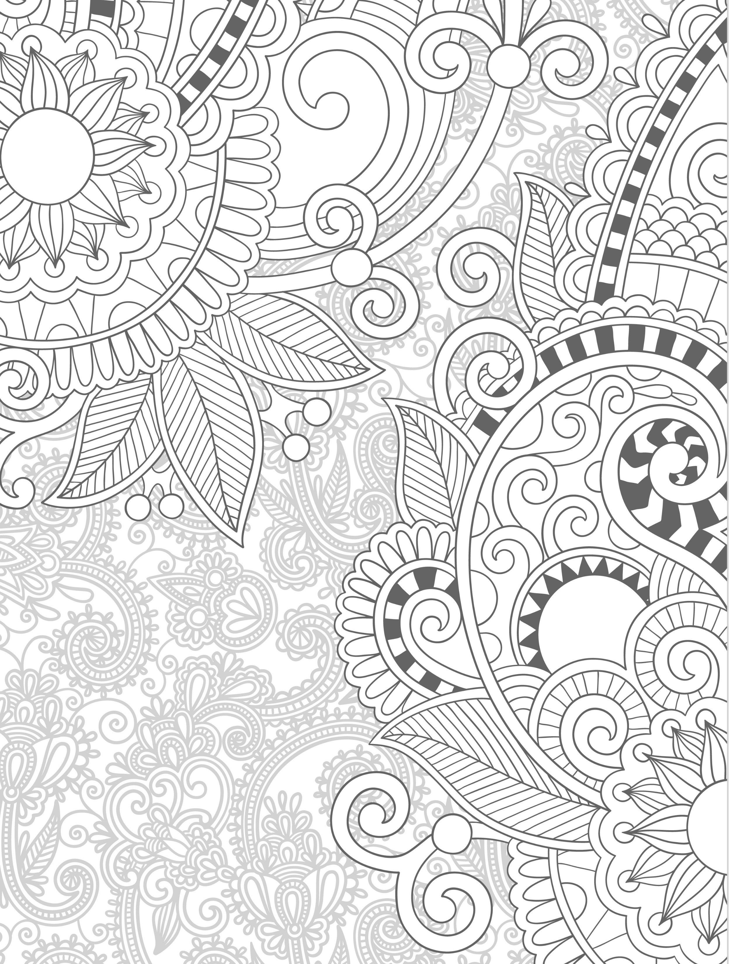 free downloadfloral free printable coloring pages for adults