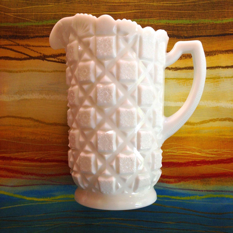 Vintage Westmoreland milk glass pitcher - Old Quilt ...