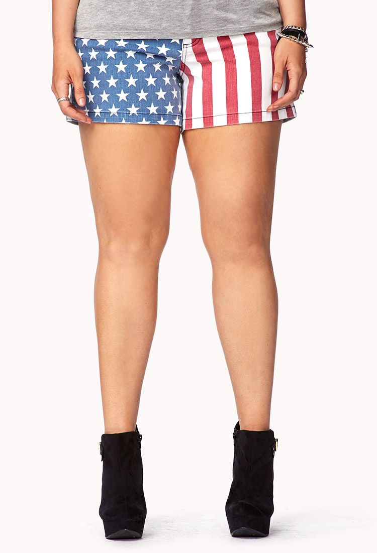 5781d4f8084 Star-Spangled Denim Shorts  22.80 Cute  plus size american flag shorts.  Great if you want to go patriotic on the 4th of July
