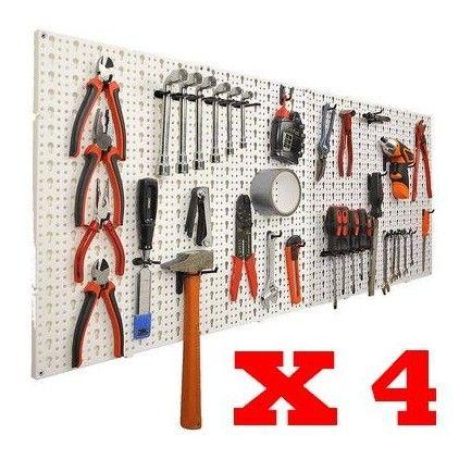 panneaux muraux de rangement pour outils crochets. Black Bedroom Furniture Sets. Home Design Ideas