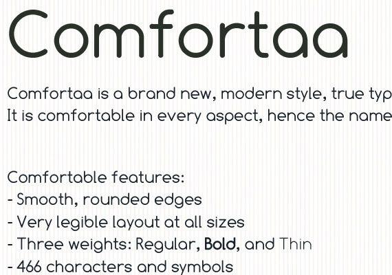 comfortaa-free-high-quality-font-web-design | Fonts | Modern fonts