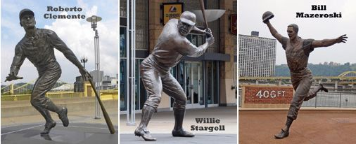 Roberto Clemente, Willie Stargell, and Bill Mazeroski
