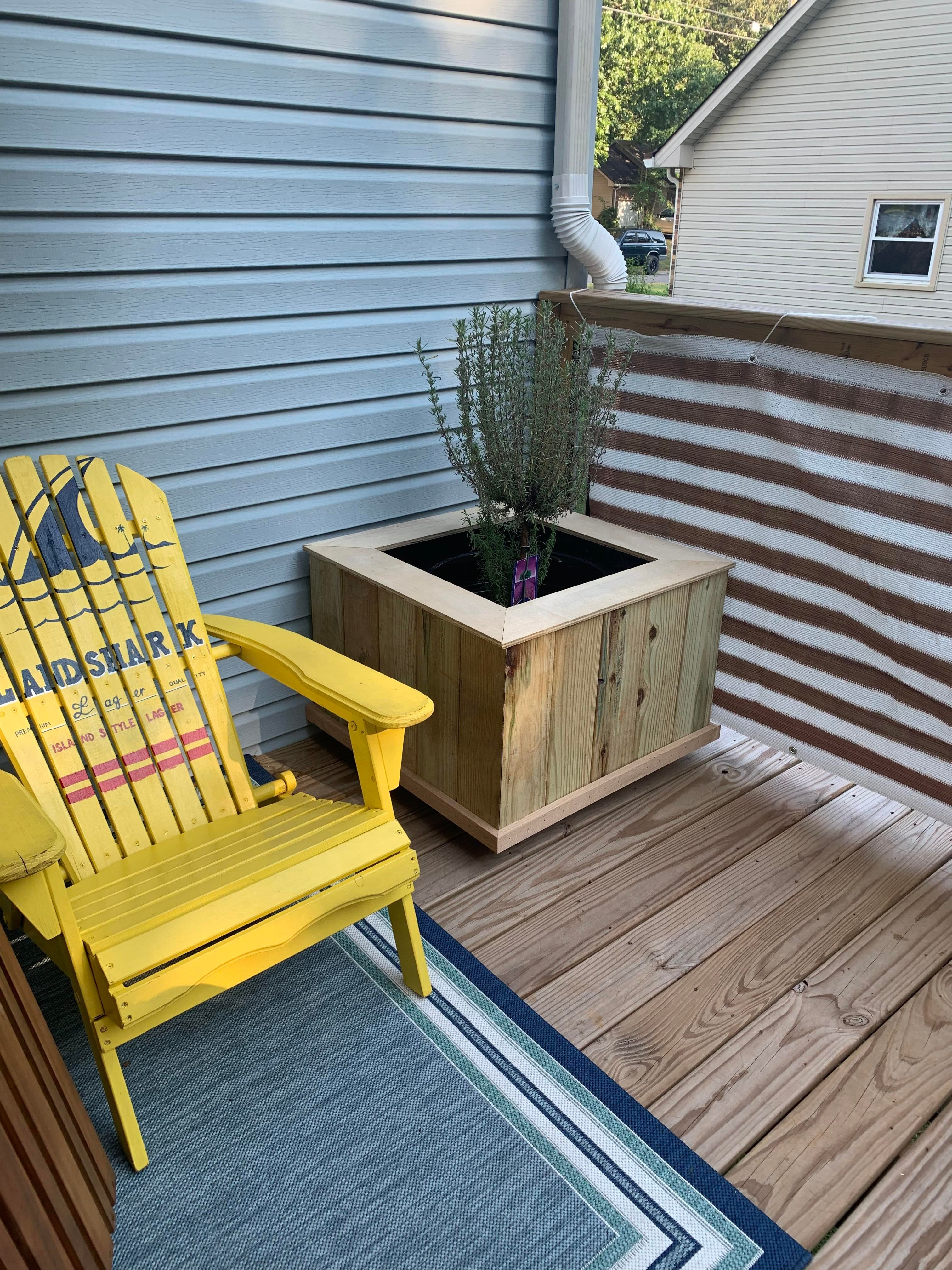 Weekend project - planter box for mom
